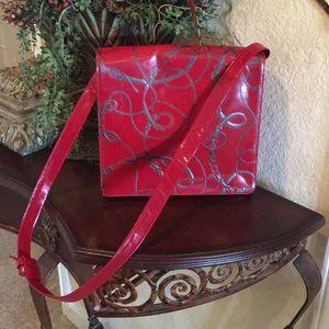 Sharif red bridle Shoulder Bag